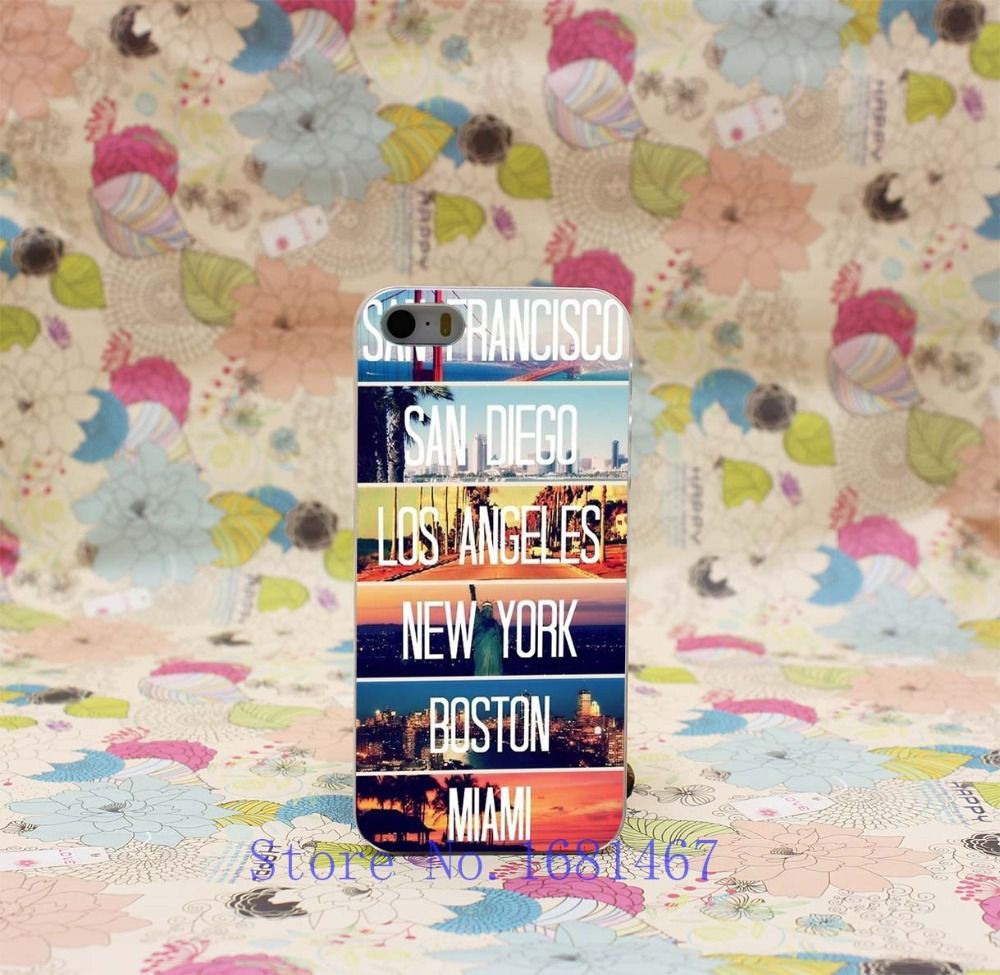 san francisco san diego los angeles new york boston miami Hard Case Cover for iphone 5 5s 5g 5th 1PCS/lot