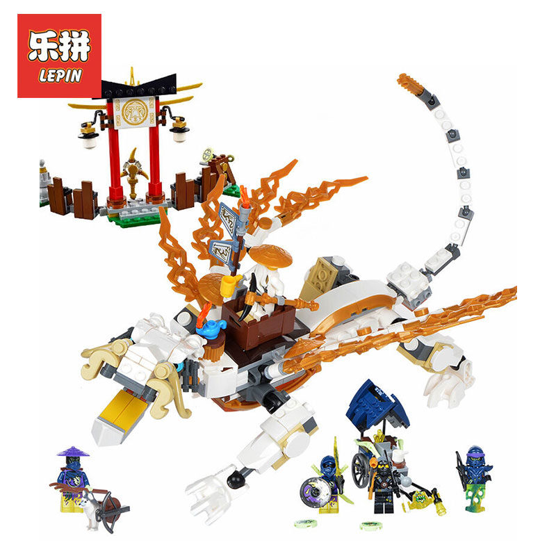 Lepin 06016 603Pcs Genuine White Dargon Marvel model Building kits Blocks Bricks Toys LegoINGlys 70734 Action Assembling Gifts