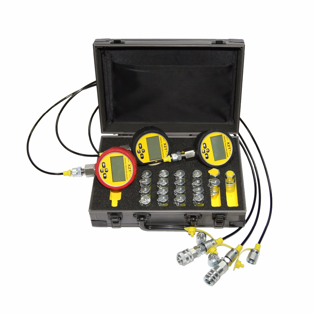XZTK 70P Hydraulic Pressure Test Kit for most Excavator HYDRAULIC Test Point coupling Hydraulic pressure guage