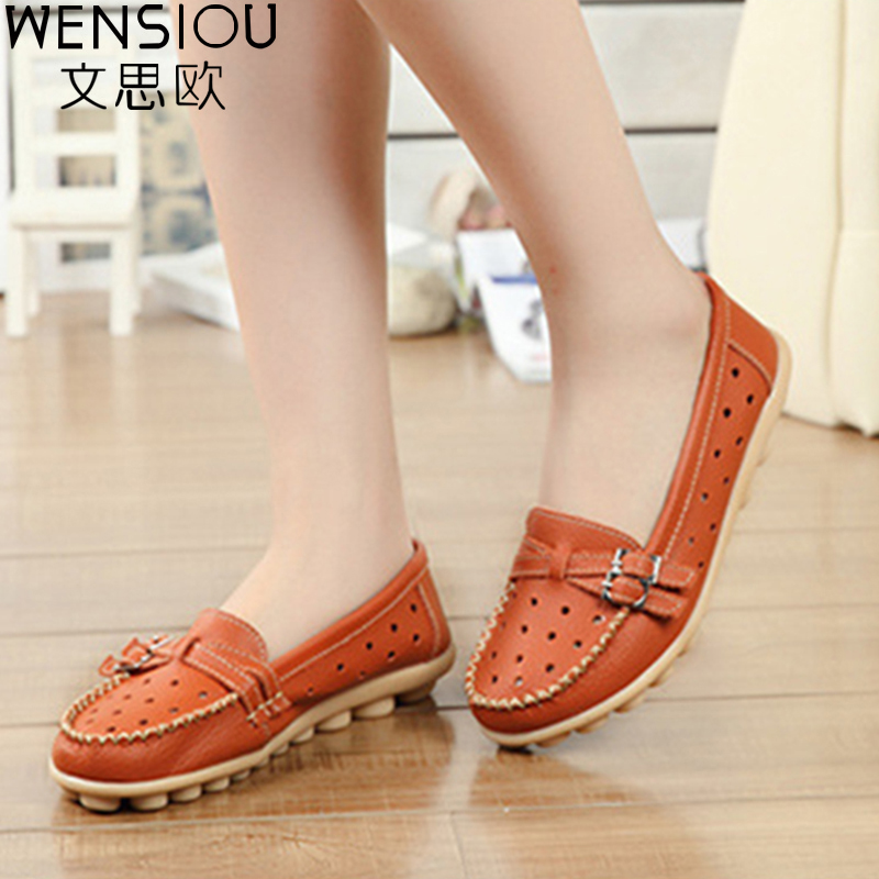 2017 Women PU Leather Shoes Summer Women Flats Moccasins Women's Cow Muscle Soft Casual Shoes Breathable Walking Loafers DDT917 top brand high quality genuine leather casual men shoes cow suede comfortable loafers soft breathable shoes men flats warm