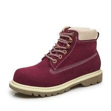 2017 осенние и зимние новые женские ботинки «мартенс» в британском ретро стиле кожаные ботинки ковбойские сапоги прогулочная обувь