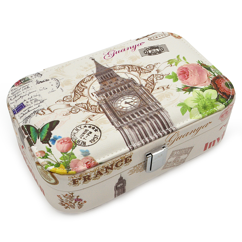 2016 New High Grade Love Gift Choice Fashion Printed Jewelry Box Jewelry Casket 4 Color For
