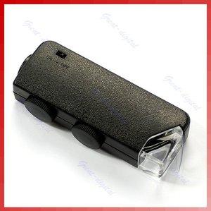Image 3 - ミニハンドヘルド 60x 100x ポケット顕微鏡 magnifer ルーペ倍率ポケット顕微鏡ジュエリー拡大鏡