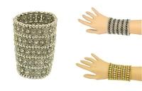 Boho Silver Cuff Bracelet Bohemian Ethnic People Crystal Wild Tribal Statement Coachella Jewelry Carving Beads Bracelet