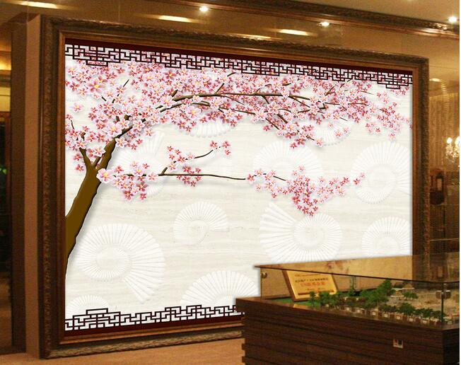 3d wallpaper custom mural non-woven wall paper   3 d the plum blossom Conch marble TV setting wall photo wallpaper for walls 3d 3d wallpaper custom mural non woven 3d room wallpaper wall stickers abstract tree 3 d tv setting photo wall paper for walls 3d