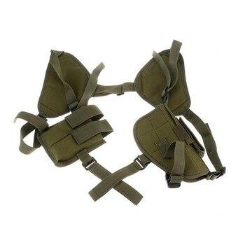 왼쪽 오른손 군사 전술 전술 나일론 총 홀스터 유니버설 권총 총 캐리 파우치 숨겨진 어깨 홀스터 글록 17 총