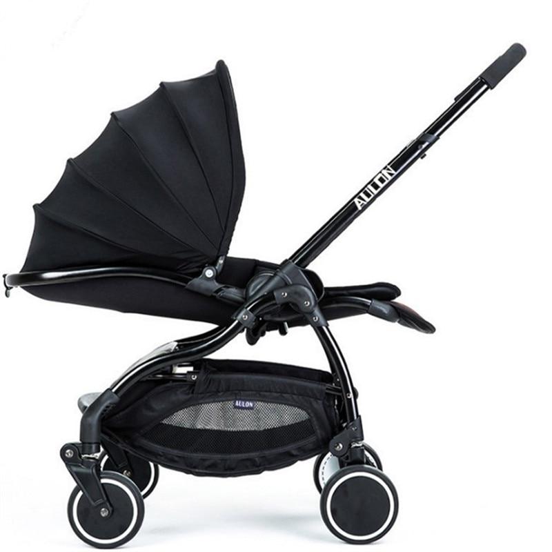 Luxury Baby Stroller High Land-Scape Pram Pushchair Portable Folding Baby Carriages For Newborns Kinderwagen Stroller For Dolls kidstravel luxury baby stroller for baby foldable portable baby carriages for newborns pram pushchair