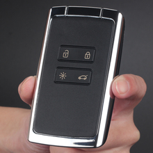 Four Button Key Shell For Renault Automotive Professional Spare Parts Refitting Black Plastic+Metal