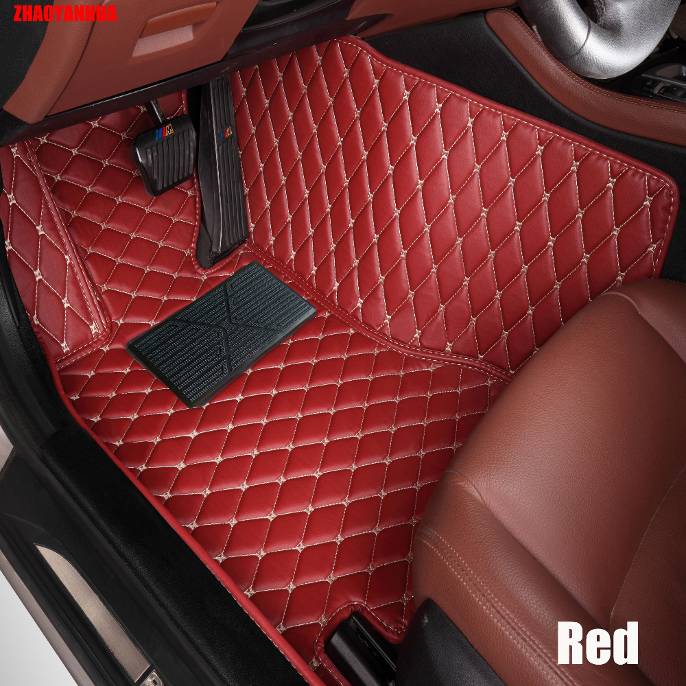 Zhaoyanhuacar floor mats made for honda civic crv cr v hrv accord crosstour fit city car styling carpet rugs case liners 2005