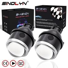 SINOLYN Противотуманные фары HID Bi xenon 3,0 »объектив проектора бифокальные вождения лампы для мотоциклов водостойкие модернизации