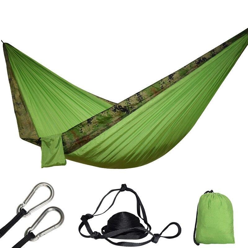 24 Colore 2 Persone Portatile Parachute Hammock di Campeggio Di Sopravvivenza Giardino Flyknit Caccia di Svago Hamac Viaggi Doppia Persona Hamak