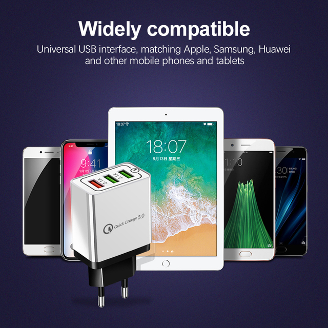 Olaf USB Charger quick charge 3.0 for iPhone X 8 7 iPad Fast Wall Charger for Samsung S9 Xiaomi mi 8 Huawei Mobile Phone Charger 3