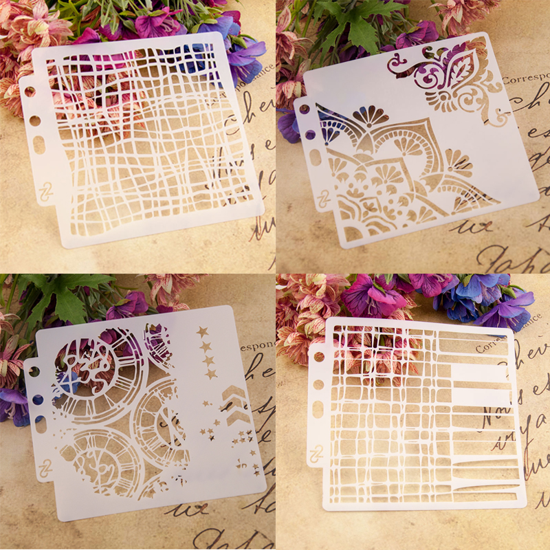 Dolce Vita Steampunk Flower Scrapbook Stencil Cake Decorating Tool DIY Decor Stencil Fondant Pattern Printing Spray Template