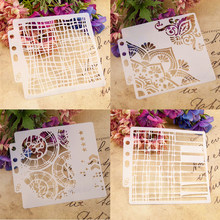Steampunk Flower Scrapbook Stencil Cake Decorating Tool new 2019 DIY Decorating Stencil Fondant Pattern Printing Spray Template(China)