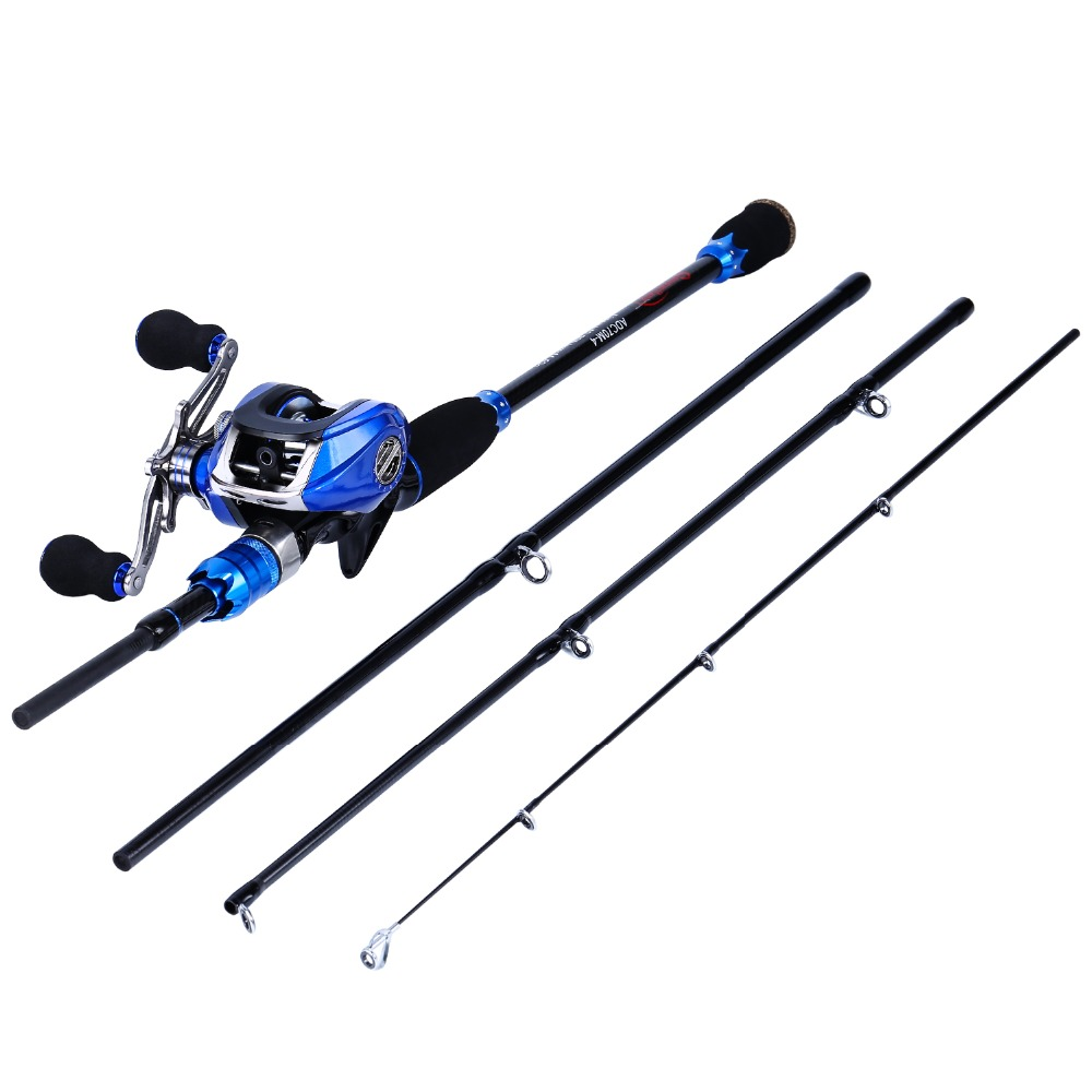 Sougayilang Blue Fishing Lure Rod and Baitcasting Reel Combo Carbon Casting Spinning Rod and Casting Fishing Reel Set Pesca Pole sougayilang 1 8 3 0m telescopic fishing rod set and 14bb metal spool spinning reel spinning fishing rod reel combo cana de pesca