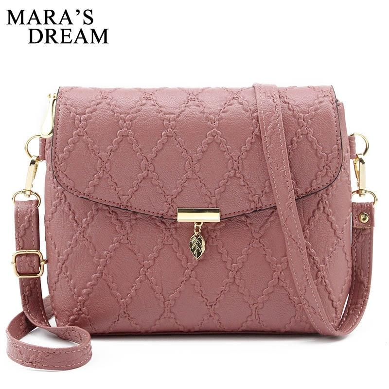 Mara's Dream Handbags Women Leather Mini Shoulder Crossbody Bag Sac a Main Femme Ladies Messenger Bag Long Strap Female Clutchs|Shoulder Bags|   - title=