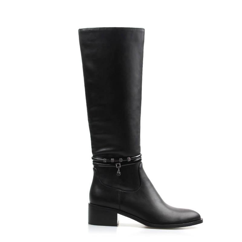 4 Lisa Genou Zipper De Carré D'hiver Femmes Bout En Black Mujer Orcha Chaud Noir Pointu Plus J512 2018 Cm Botas 5 Cuir Talon Bottes Pu YnwRdZ