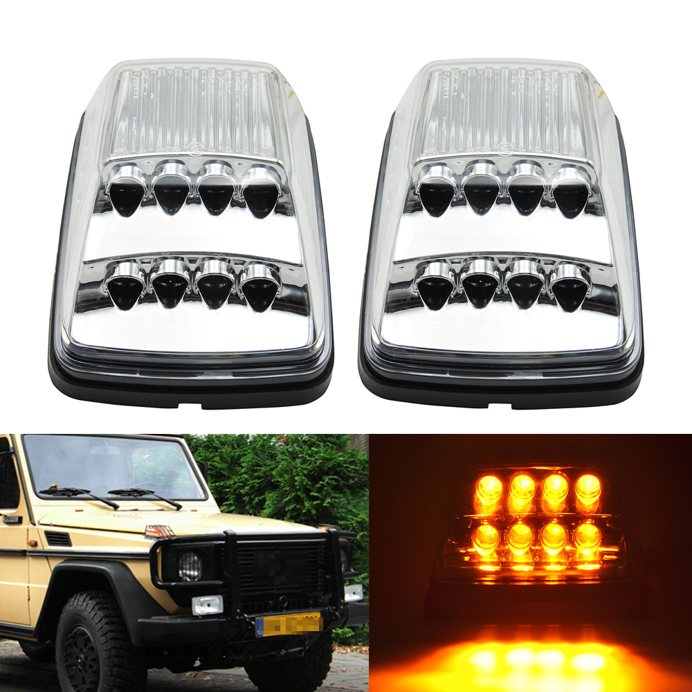Clear LED Sequential Turn Signal Corner Light For Mercedes Benz W463 G Class G55