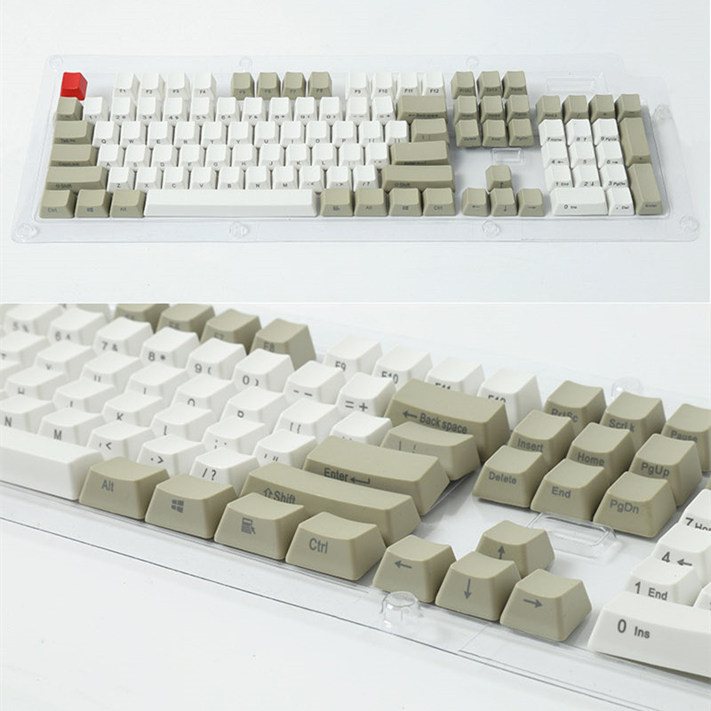 Side-printed Front Print Retro gray 104 PBT Keycap OEM Profile For MX Switches Mechanical Keyboard Gaming Keyboard Free Shipping цена