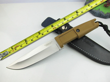 C002639C Tactical Fixed Knives, Rubber Handle 7Cr17 Blade Camping Survival Knife,Hunting Knife.
