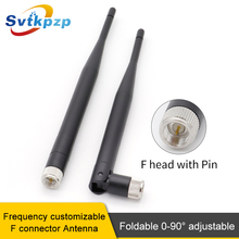 цена на 2PCS GSM/2.4G/3G MHz SMA-J Male Connector WIFI Antenna 5dBi Omni-directional Router Antennas Signal Booster Amplifier Wireless