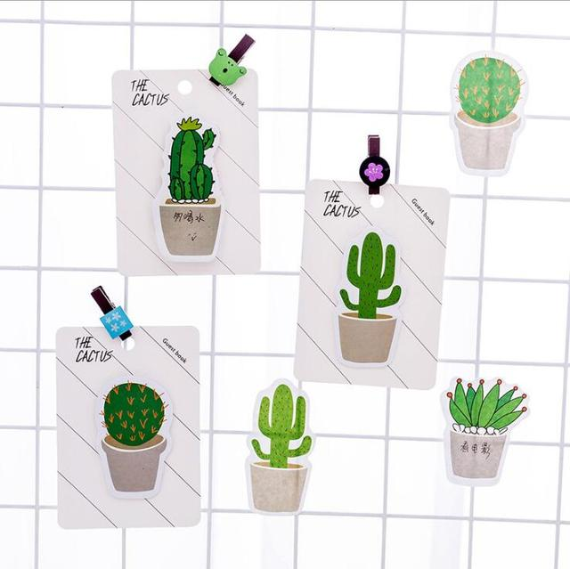 30 Pages/Pack Cactus Memo Pad