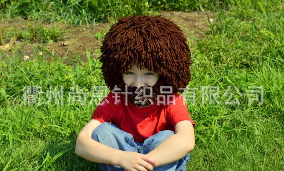 Handmade knitted hat fake beard cap Christmas gift for kids children beard hat Dreadlock ...