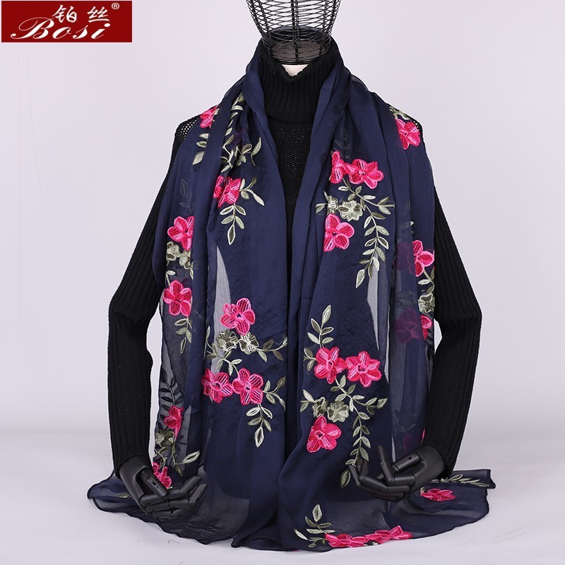 Winter hot 2018 women   scarf   shawl spring summer silk poncho   scarves   shawls   wraps   hijab lady brand beach stoles sjaal foulard new