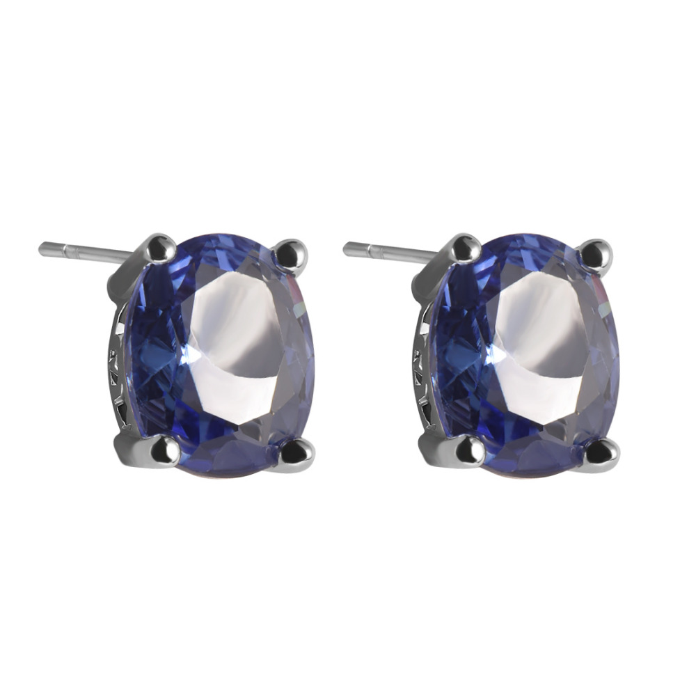 Created Created Tanzanite 925 Sterling Silver Fashion Earrings Ppe04