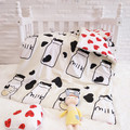 3 шт.  комплект постельного белья с мультяшным рисунком  набор для детской кроватки для мальчиков  ropa de cuna  комплект berço  комплект детского по...