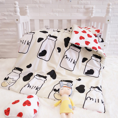 Promotion! 3PCS Cartoon baby bedding sets baby crib set for boys ropa de cuna ,Duvet Cover/Sheet/Pillow Cover,