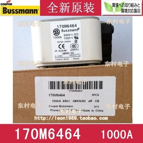 US imports BUSSMANN fuse 170M6464 170M6464D 1000A 690V fuse rosenberg 6464
