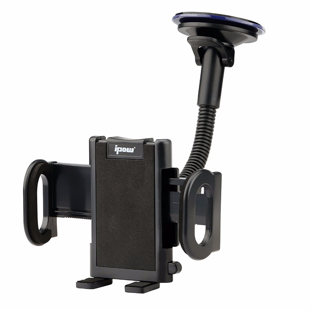 imágenes para Ipow universal dashboard del parabrisas del sostenedor del teléfono celular brazo largo car mount holder soporte para iphone samsung con los brazos inferiores