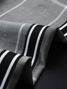 Image 3 - Minglu Pantalones a cuadros para hombre, pantalón a cuadros, de lujo, con cintura elástica, ajustado, hasta el tobillo, de talla grande, 4xl, de hilo teñido, informales