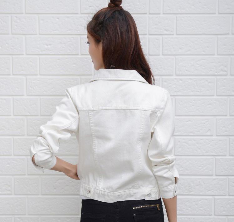 Jeans Jacket and Coats for Women 19 Autumn Candy Color Casual Short Denim Jacket Chaqueta Mujer Casaco Jaqueta Feminina 2