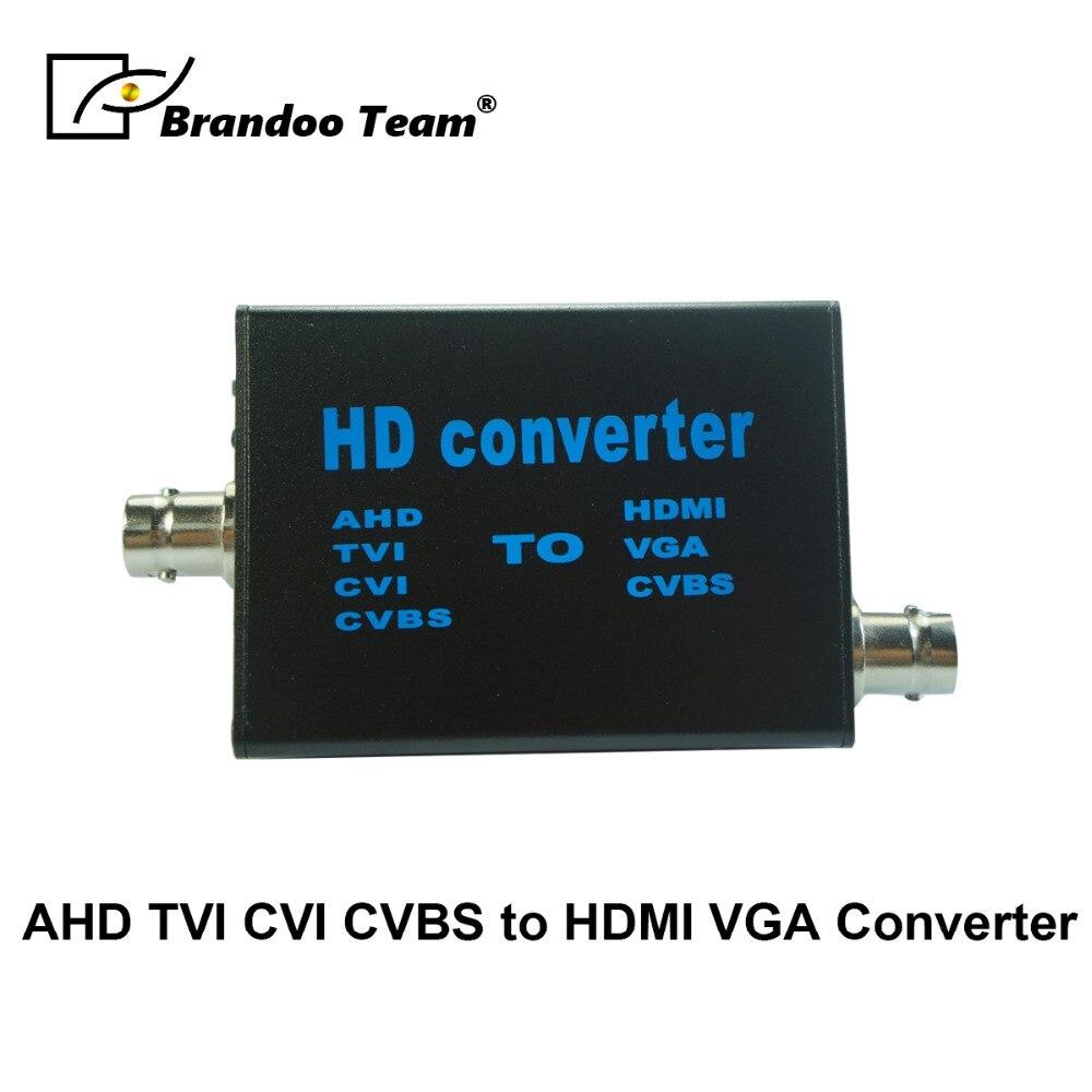 Full HD 1080P Video Converter AHD to HDMI/VGA/CVBS Converter цена