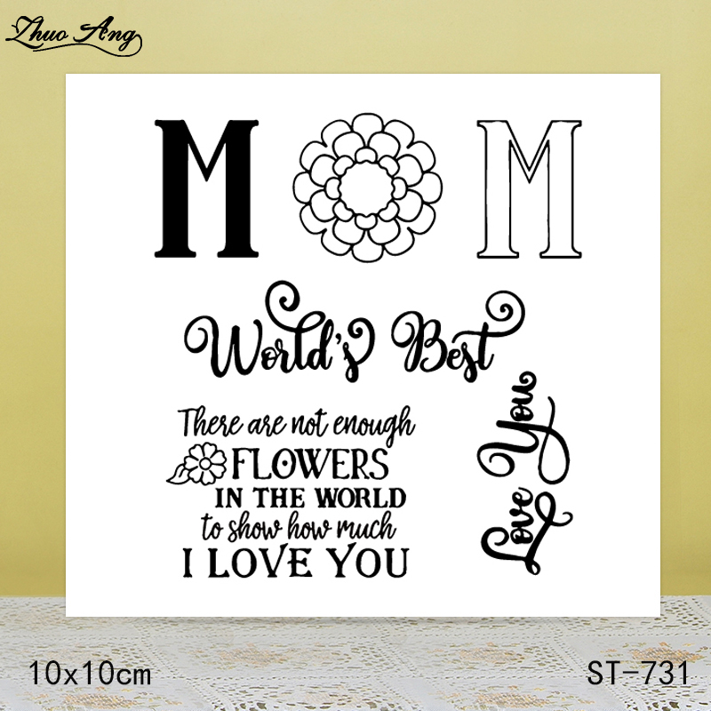 ZhuoAng These flowers are not enough I love you transparent stamp sealed DIY scrapbook album decoration card seamless seal in Stamps from Home Garden