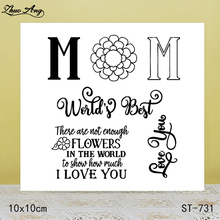 ZhuoAng These flowers are not enough I love you transparent stamp / sealed DIY scrapbook album decoration card seamless seal