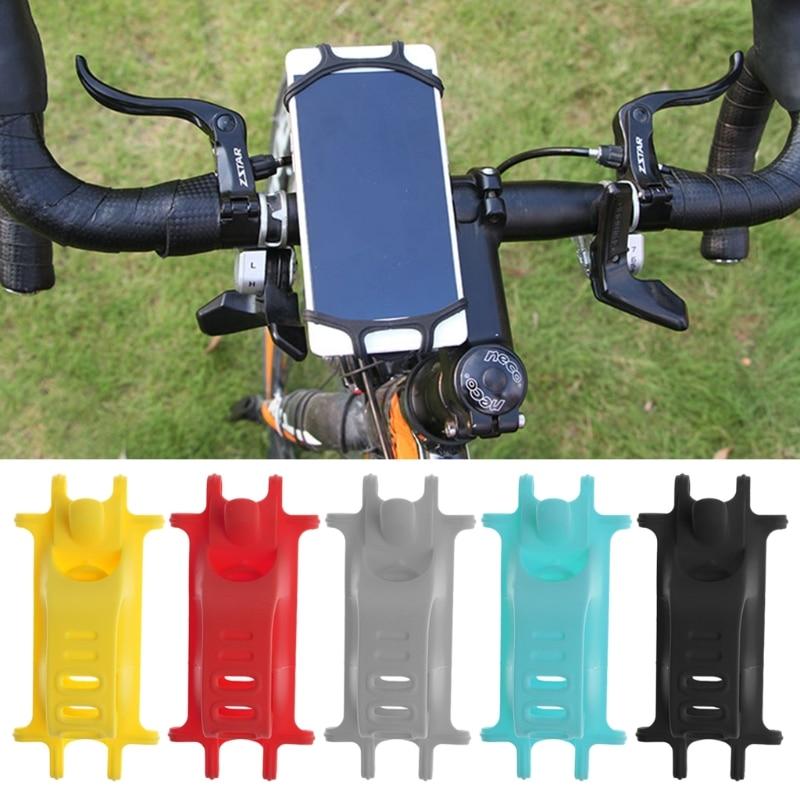 4-6 Inch&#8221; Stand Bike Handlebar Mount Elastic Durable <font><b>Silicone</b></font> Band <font><b>Bicycle</b></font> <font><b>Phone</b></font> <font><b>Holder</b></font> For iPhone 6s 7 Plus Samsung #R179T#