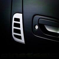 JY SUS304 Stainless Steel Side Door Air Intake Trim Car Styling Cover Accessories For Nissan CARAVAN