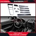 Для porsche cayenne 958 углеродного волокна автомобильная авто украшения интерьера дизайн частей внутри аксессуары