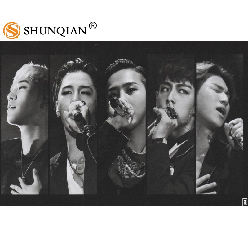 New Arrival <font><b>KPOP</b></font> <font><b>BigBang</b></font> Custom Printing Satin Cloth <font><b>Poster</b></font> Fashion Home Art Deco Silk <font><b>Poster</b></font> 20x30cm, 27x40cm image