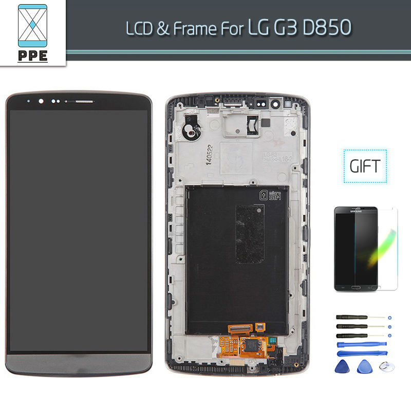 LG G3 D850 D851 D855 VS985 LS990 (LG G3 LCD with frame grey)