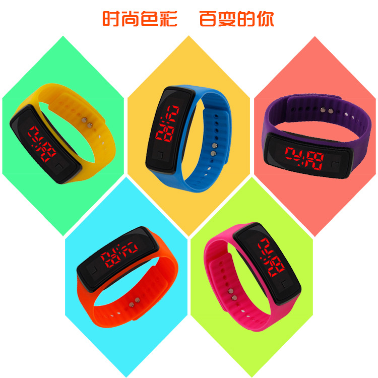 Children Watch Kids Led Sports Watches Women Silicone Electronic Digital Watch Student Wrist Bracelet For Boy And Girl Kol Saati