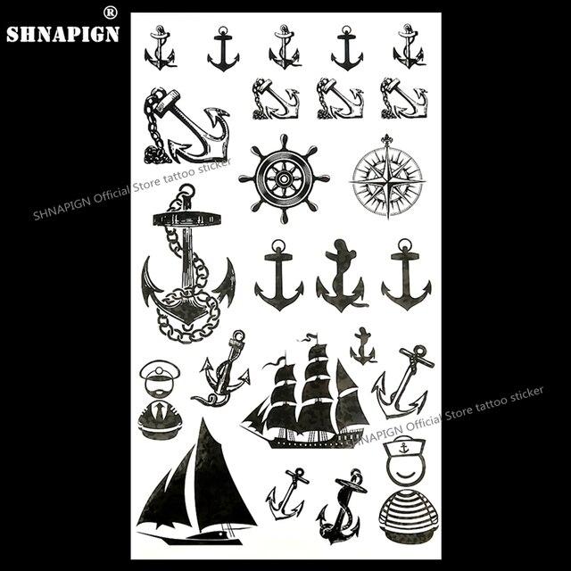 shnapign marine pirate ancre tatouage temporaire body art bras flash tatouage autocollants 17 10. Black Bedroom Furniture Sets. Home Design Ideas