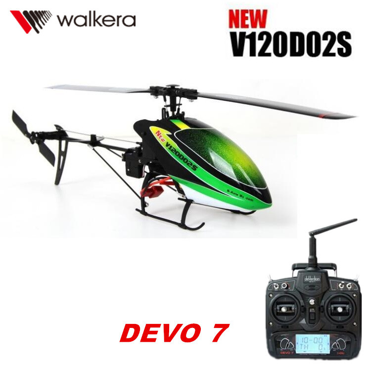 Original Walkera New V120D02S with DEVO 7 Remote Controller Transmitter MINI 3D 6CH 6-Axis gyro RC helicopter RTF original walkera devo f12e fpv 12ch rc transimitter 5 8g 32ch telemetry with lcd screen for walkera tali h500 muticopter drone
