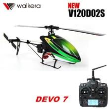 Original Walkera nouveau V120D02S avec DEVO 7 télécommande émetteur MINI 3D 6CH 6 axes gyroscope RC hélicoptère RTF