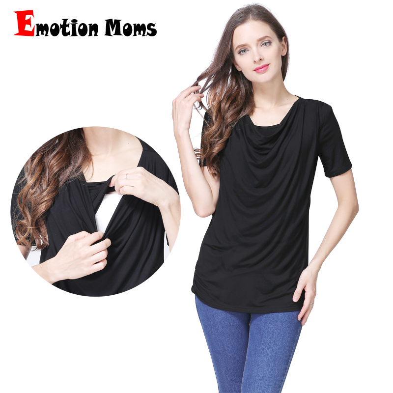 Emotion Moms Modal Short sleeve Maternity Clothes Summer Maternity T-shirt Breastfeeding tops for Pregnant Women Nursing Tops family fashion summer tops 2015 clothers short sleeve t shirt stripe navy style shirt clothes for mother dad and children
