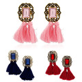 Fashion Women Shiny Rhinestone Tassel Dangle Ear Stud Statement Earrings Jewelry smt102