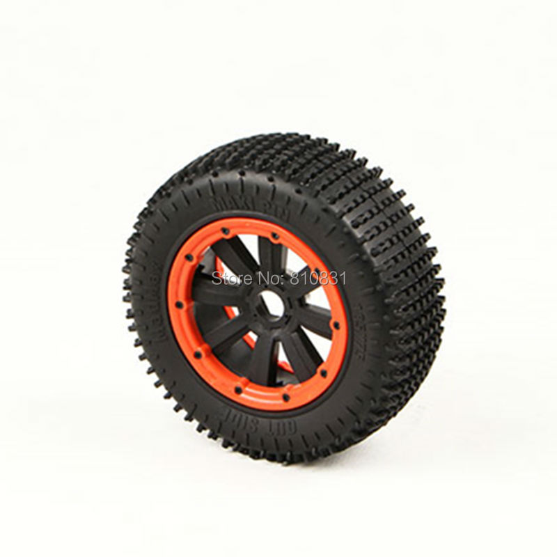 MADMAX Wheels Waterproof Wear-Resistant Tire FOR LOSI 5IVE-T HPI KM ROVAN BAJA RC Monster Truck 2 Front 2 Rear RC Car Part 2pcs traxxas original 1 5 x maxx tires wheels tire tyre for 1 5 traxxas x maxx rc monster truck model 7772